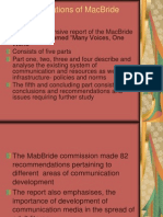 Recommendations of MacBride Commission