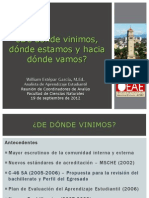 De Donde Vinimos, Donde Estamos y Hacia Donde Vamos - 19-09-2012 WEG