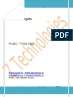 Embedded Project Titles 2012 @ Z Technologies www.ztech.in