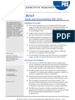 Final Brief for Printing - Judicial Standards and Accountability Bill 2010