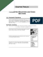 Parametric Equations of Conics