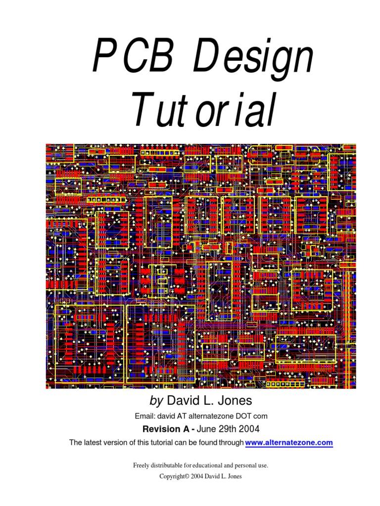 Pcb Design Tutorial Rev A Printed Circuit Board Electronic Circuits Plain Copperclad Fibreglass Rapid Online