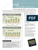 Childhood Overweight in Utah Report 2012