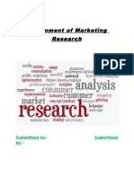 Assignment of Marketing Research- By Ashish Soni