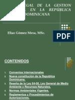 Marco Legal de La Gestion Ambiental en Republica Dominicana
