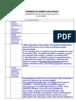 Guion Informativo Lunes 30 de Abril de 2012