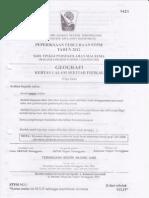 Soalan Percubaan STPM Geo1 Terengganu 2012