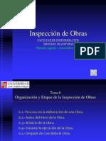 Tema 6 Organización y etapas de la Inspección de Obras