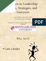 Women in Leadership - NCCWSL Presentation