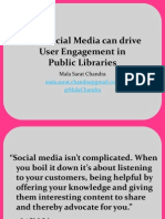 Using Social Media to Drive User Engagement In