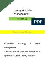 Session 12 Calendar Planning & Order Management