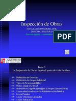 Tema 9 La Inspección de Obras desde el punto de vista jurídico