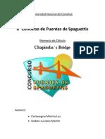 Memoria de cálculo - Chapimba's bridge