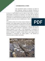 Contaminacion de La Tierra