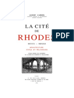La Cité de Rhodes, Architecture Civil Et Religiuese (Gabriel Albert, Paris 1923)