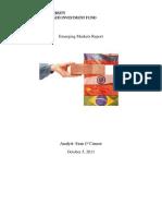 SMIF Equity Report Emerging Markets