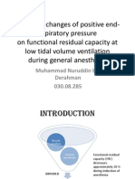Impact of Changes of Positive End-expiratory Pressure