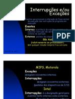 Interrupções e Excepções