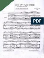 Chanson Et Passepied Con Piano