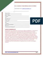 Numerology Coaching Client Intro Questionnaire Form