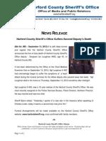 HCSO News Release - Second Deputy Dies in the Line of Duty