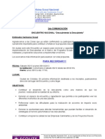 Comunicación 2 -Encuentro Nacional Descubriendo la Descubierta - Scouts de Argentina