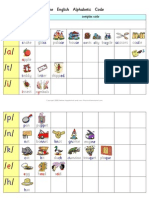 The English Alphabetic Code - Complete Picture Chart