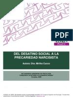 1 Del Desatino Social a La Precariedad Narcisista.2009