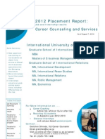 2012 Placement Report