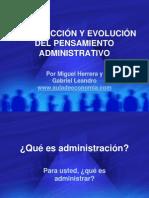 AG01-INTRODUCCIÓN Y EVOLUCIÓN DEL PENSAMIENTO ADMINISTRATIVO.1