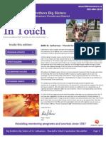 BBBS St. Catharines September 2012 Newsletter