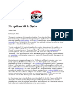 No Options Left in Syria - Foust