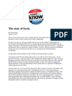 The State of Syria - Foust