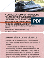 motor accidents and driving license