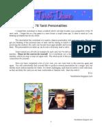 78 Tarot Personalities