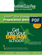 GMAT Preparation Quick Guide - GMAT Verbal Concepts Guide | Elite Strategy Guide Series
