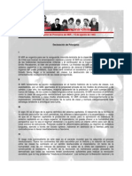 Declaración de Principios del MIR - 15 de agosto de 1965