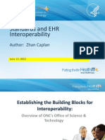 Standards and EHR Interoperability