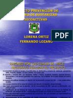 PROYECTO PREVENCIÓN DE CONSUMO DE SUSTANCIAS PSICOACTIVAS [Autoguardado]