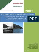Sistema de Tratamiento de Aguas Servidas en Arequipa 2009.
