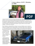 Nos adhérents et leurs voitures Christian Geismar