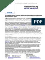 Pressemitteilung vom Berliner Wassertisch vom 21. September 2012