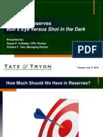 Targeting Reserves