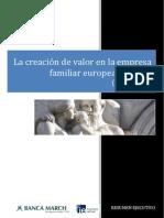 La Creacion de Valor en La Empresa Familiar Europea Cotizada 2001 2010