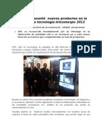 AOC presentó nuevos productos en la feria de tecnología Intcomexpo 2012