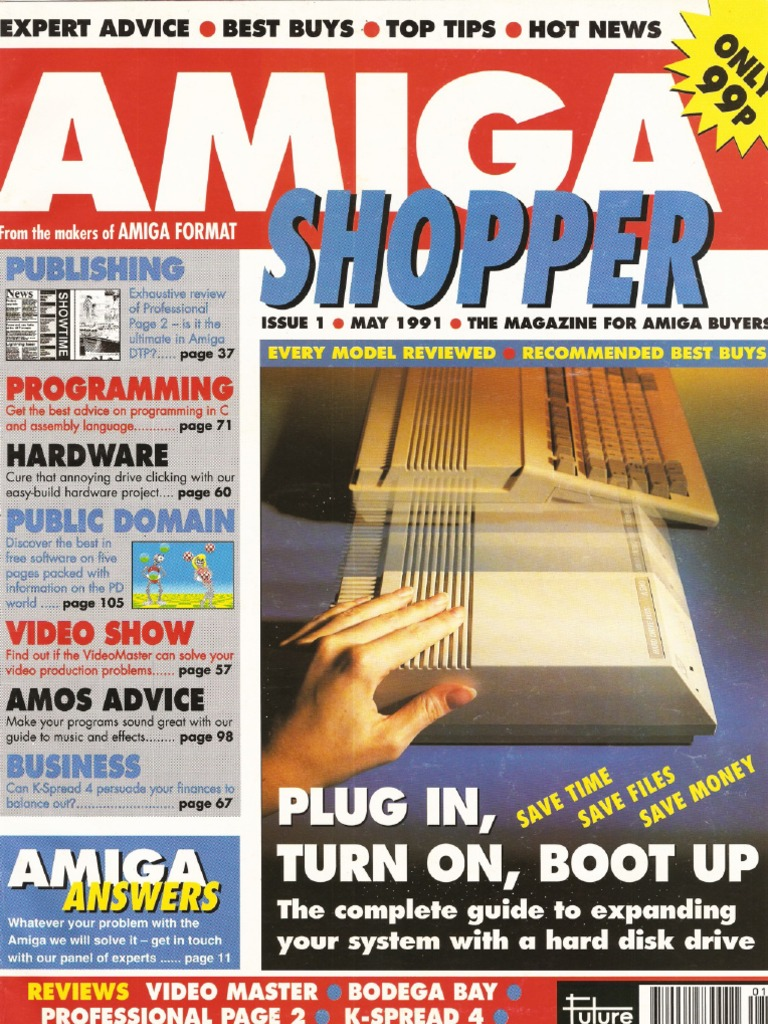 Amiga Shopper Magazine Issue 1 May 91 Recursion Pointer Bent Diabolical Casio Ck Circuit Computer Programming