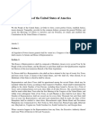 The Constitution of the United States of America Organic
