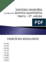Exercícios resolvidos - Capítulo 6 - Harris 6ª. edição