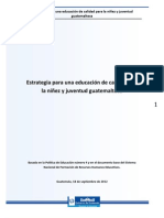 Documento Estrategia para una educación de calidad