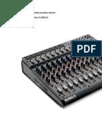 Mixer Multicanal Con Interfaz Incluida y Efectos